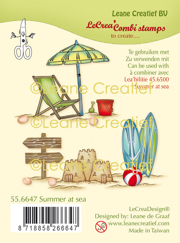 Lecreadesign Combi Clear Stamp Summer At Sea
