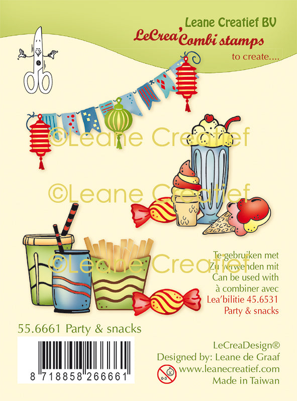 Lecreadesign Combi Clear Stamp Party & Snacks
