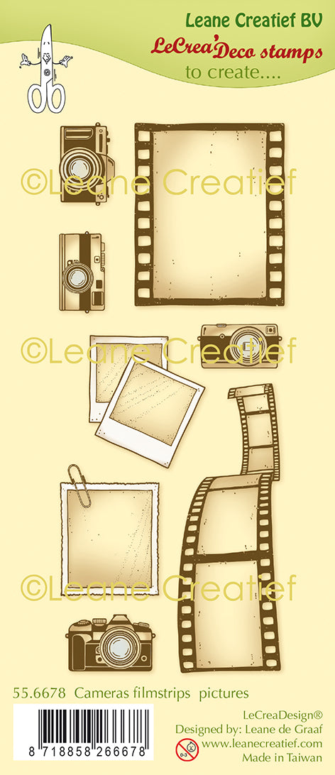 Lecreadesign Deco Clear Stamp Cameras, Filmstrips & Pictures