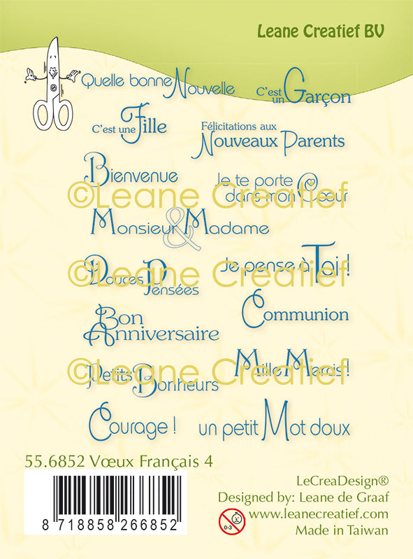 Lecreadesign Combi Clear Stamp French Words 4.