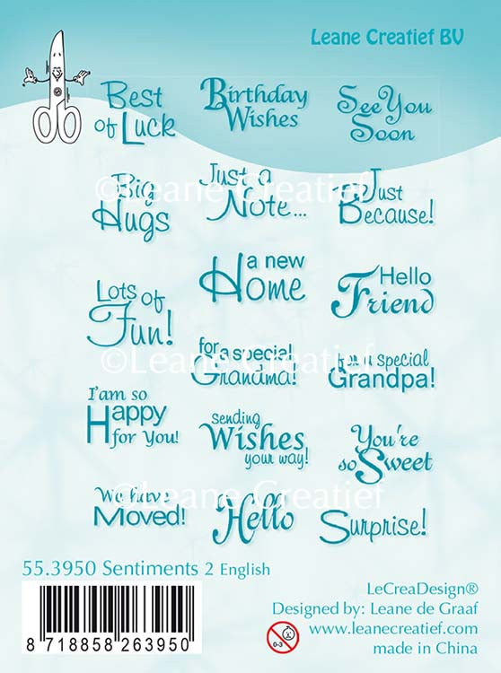 LeCreaDesign Clear Stamp - Sentiments English Text 2
