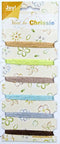 Chrissie Sparkel threads - assorted colors browns, light blue, silver , green