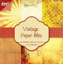 Joy! Crafts 6x6 Paper Bloc - Vintage Yellow