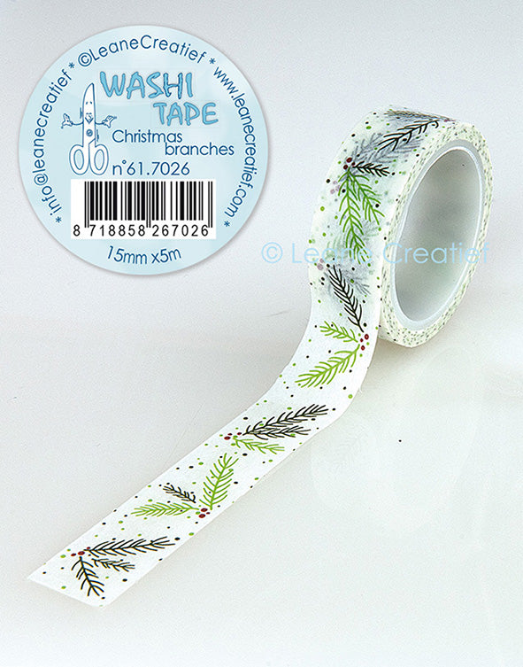 Washi Tape Christmas Branches, 15mm X 5m