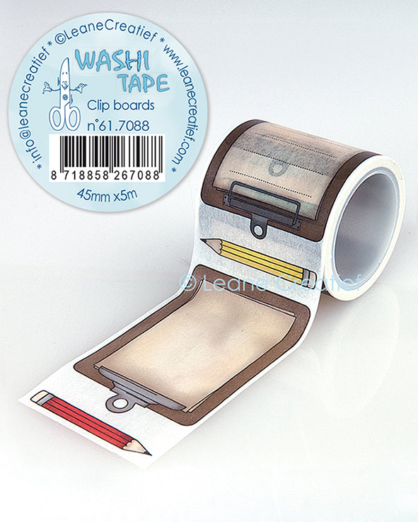 Washi Tape Clip Boards, 45mm X 5m