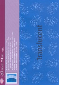 Vellum Paisley blue ( 5 sheets)
