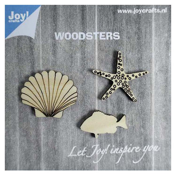 Joy! Crafts Wooden Figures - Starfish Shell & Fish