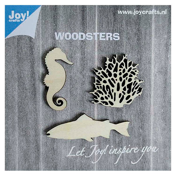 Joy! Crafts Wooden Figures - Seahorse Coral and Big Fish