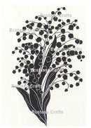 Silhouette Flowers -Lily of the Valley