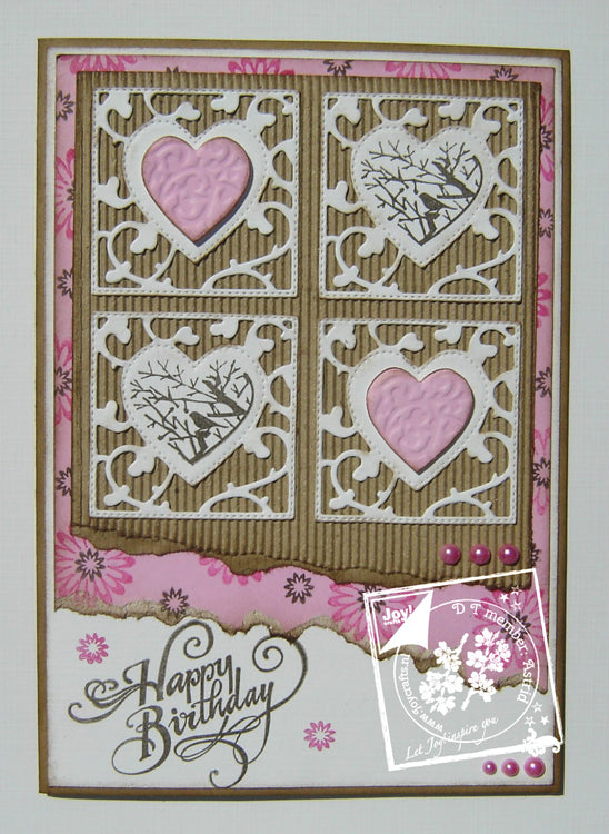 Joy! Crafts Clear Stamps -  Love Birds