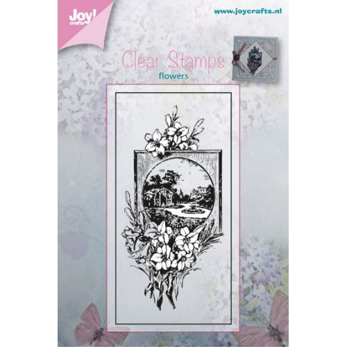 Clear stamp-Flowers with Picture Frame