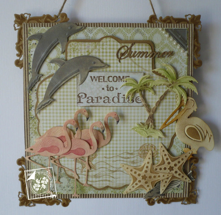 Joy! Crafts - Stamp - Welcome to paradise