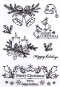 Joy! Crafts Clearstamp - Christmas Candles/Bells