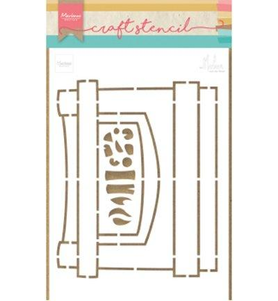 Craft Stencil Fireplace by Marleen