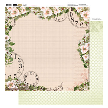 12x12 Patterned Paper  - Time - Vintage Rose Collection (5)