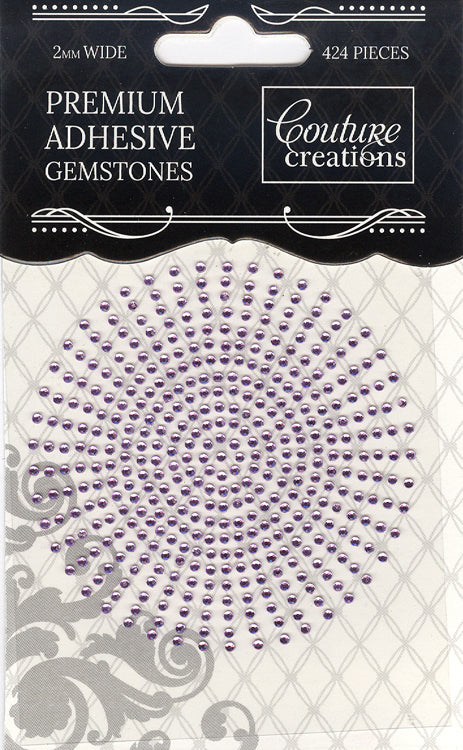 Couture Creations 2mm Gemstones - Wisteria