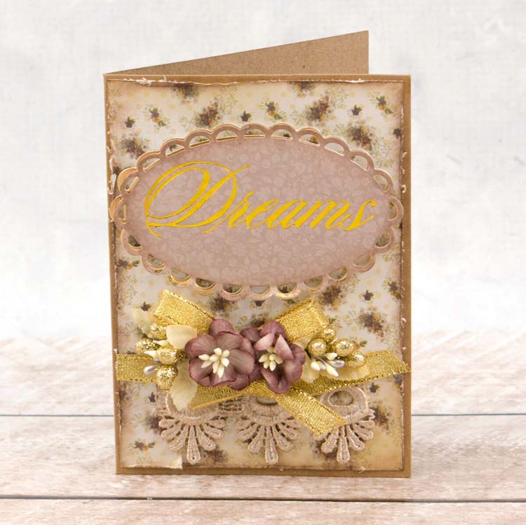 Couture Creations Hotfoil Stamp - Dreams Sentiment