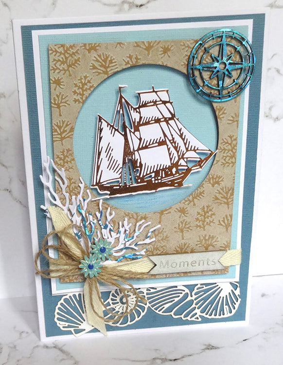 Couture Creations Hotfoil Stamp - Tall Ship