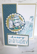 Couture Creations Hotfoil Stamp - Swirling Seas