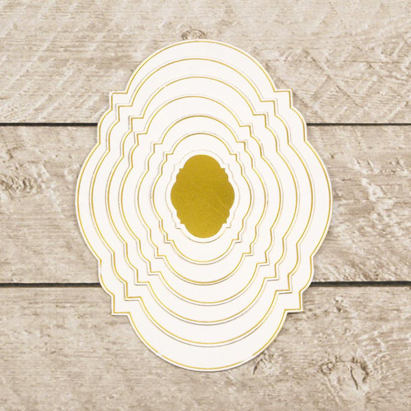Cut, Foil and Emboss - Modern Essentials - Nesting Inset Oval Frames