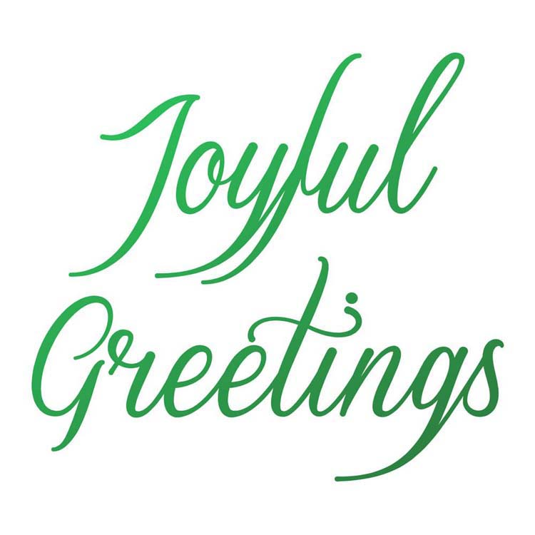 Couture Creations Joyful Greetings Sentiment Mini Stamp