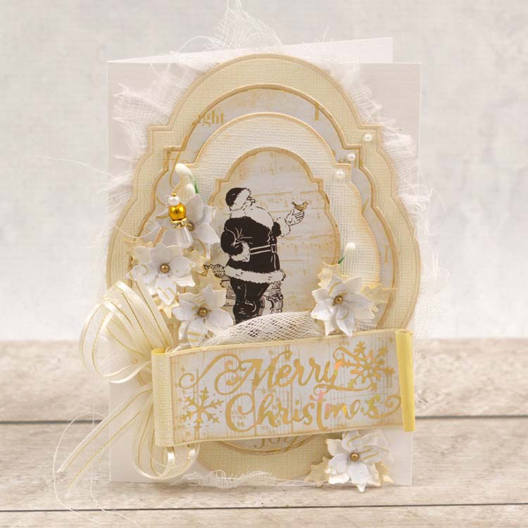 Couture Creations Merry Christmas Snowflakes Hotfoil Stamp