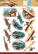 3D Diecut Decoupage Set - Amy Spring - It's a Man's World - Airplanes 2