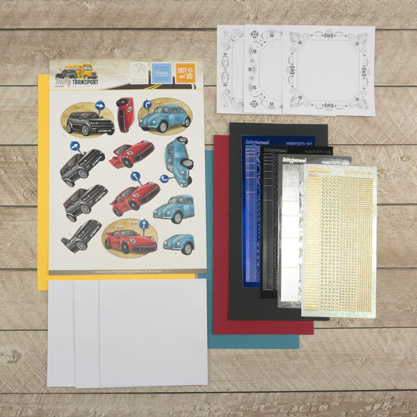 3D Diecut Decoupage Set - Amy Spring - It's a Man's World - Cars