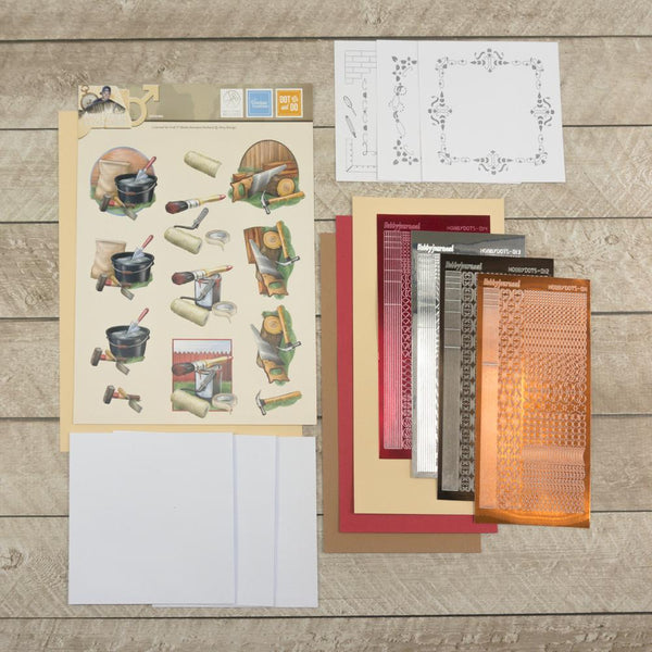 3D Diecut Decoupage Set - Amy Spring - It's a Man's World - Handy Men