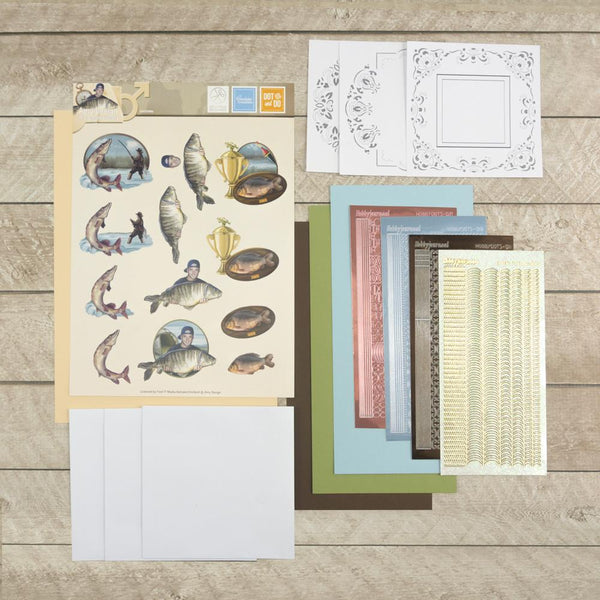 3D Diecut Decoupage Set - Amy Spring - It's a Man's World - Fishing