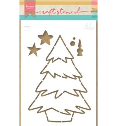 Craft Stencil Christmas Tree by Marleen