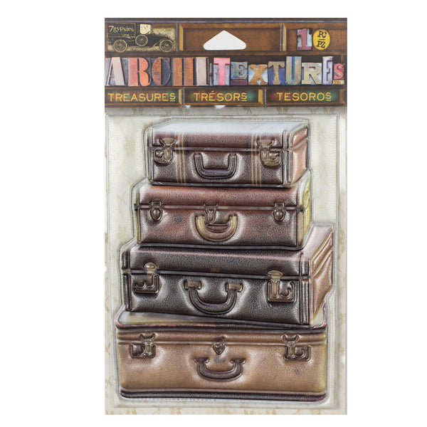 Architextures Treasures - Stacked Leather Suitcases