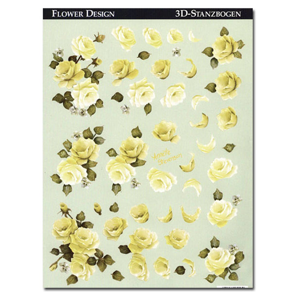Reddy Creative Cards Die-Cut 3D Card Toppers - Yellow Roses