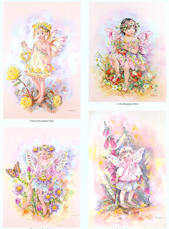 3-D Pre Cut (2 Sheet) Fairy Poppets - Garden Flowers