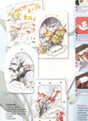 Card Kit- 3D Floral - Franz Heigl 3: 3 cards, envelopes and precut sheet