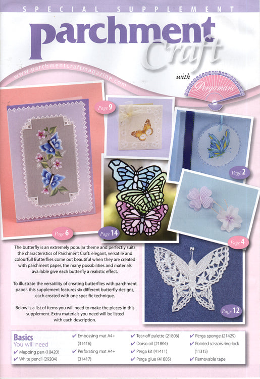 Pergamano pamphlet for spring butterflies