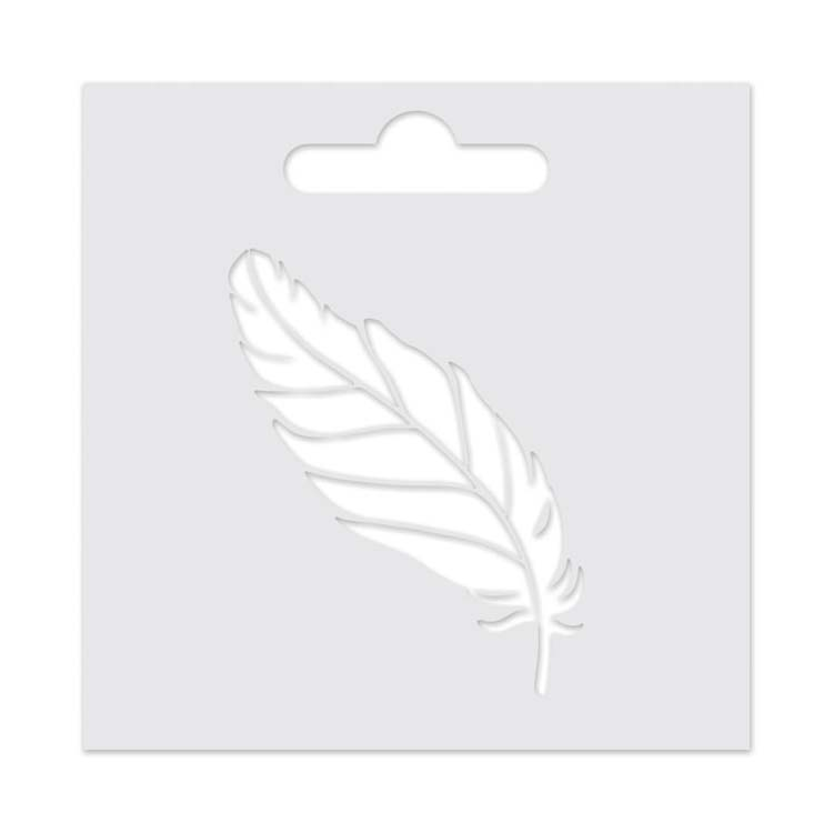 Aladine IZINK 3D Stencil - Feather