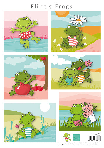 Eline's Frogs A4 Cutting Sheet