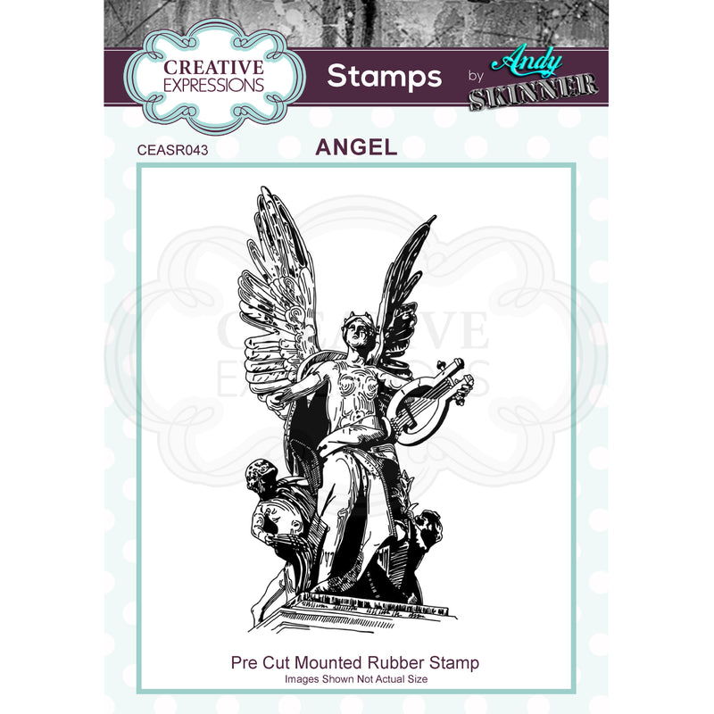 Andy Skinner Angel Rubber Stamp