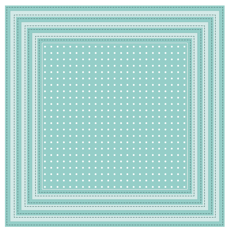 Shadow Box Collection Stitched Square Peg Board Die