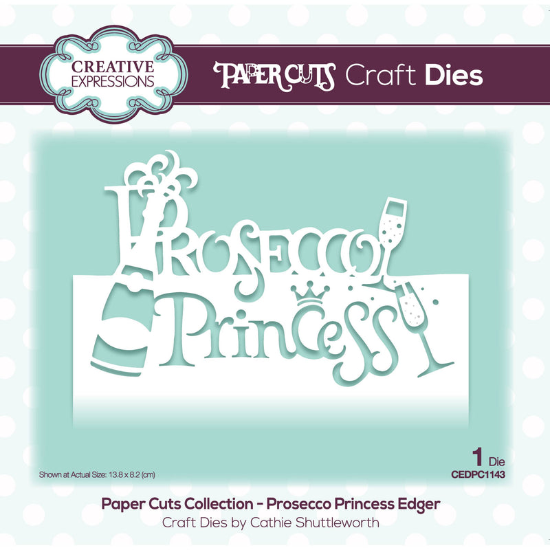 Paper Cuts Collection - Prosecco Princess Edger