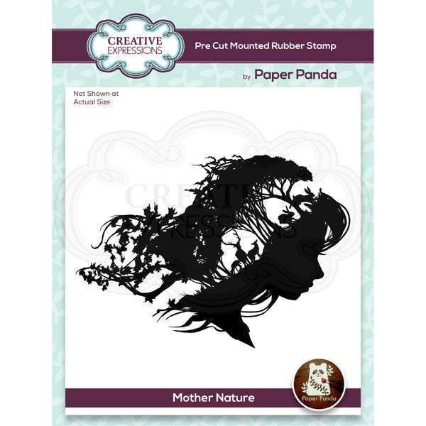 Paper Panda Mother Nature 4.8 in x 4.3 in Pre Cut Rubber Stamp