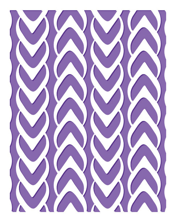 Embossing Folder - Knitted - The Harmony Collection