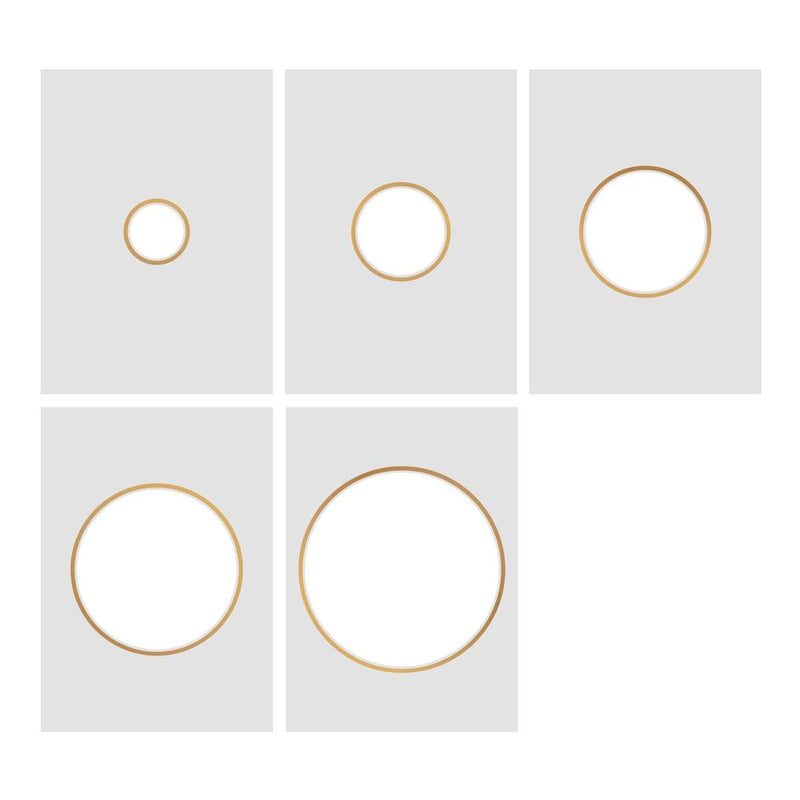 Cut, Foil and Emboss Nesting Negative Circles - 106 x 106mm | 4.1 x 4.1in