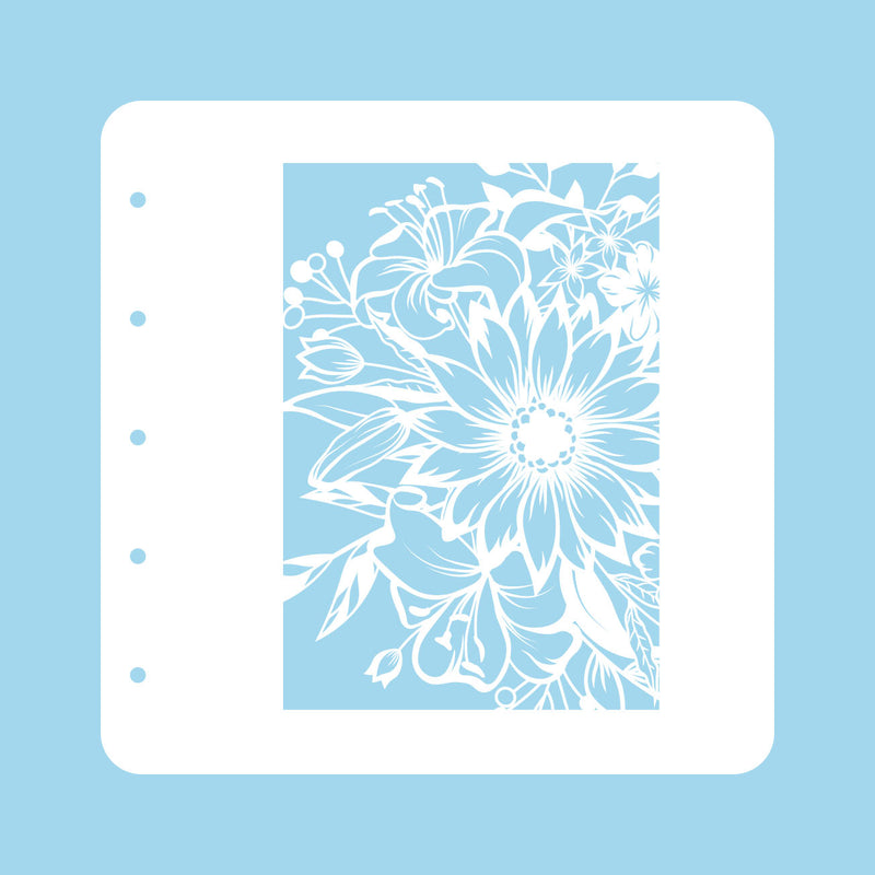 Stencil A6 For Magnetic Colour Set Flower 1