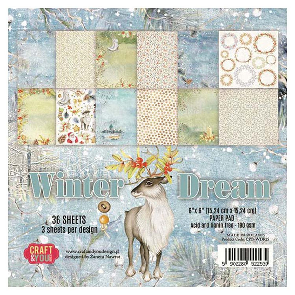 Craft & You Design Winter Dream 6x6 Paper Pad