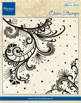 Clear stamp - Anja's swirl