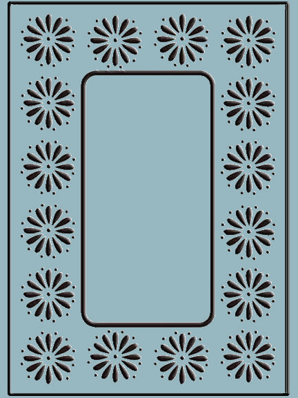 Embossing Folder Daisy Frame