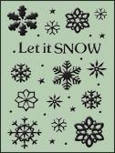 Embossing Folder - Let it Snow (HSFC002)