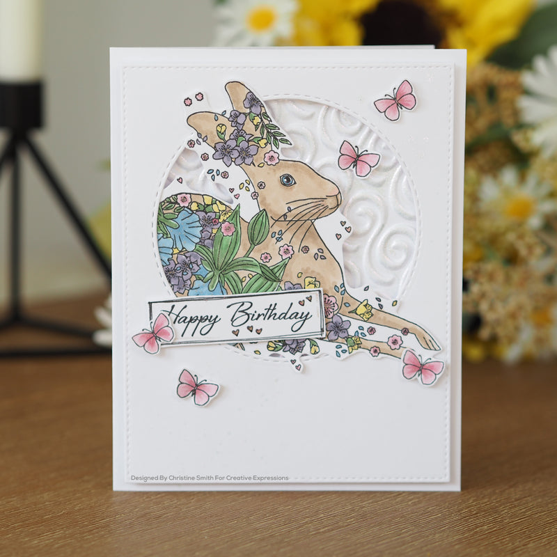 Designer Boutique Collection Running Free A6 Clear Stamp
